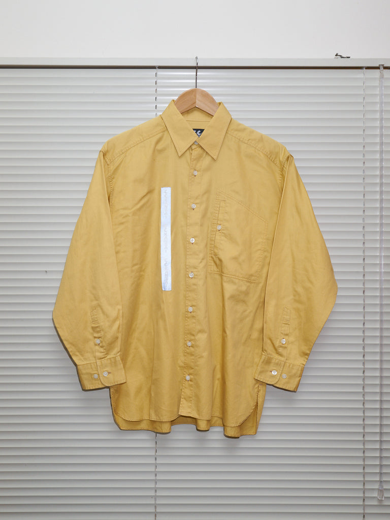 CC Kansai Yamamoto 1990s yellow cotton logo reflector patch shirt - mens M S