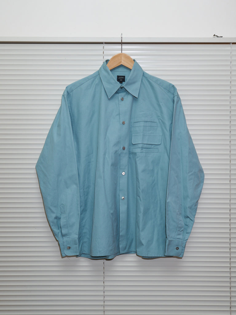 jean paul gaultier homme teal cotton triple pocket shirt
