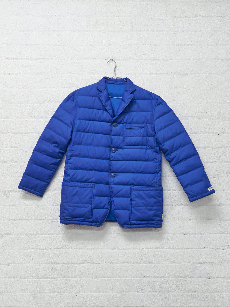 neighborhood blue polyester quilted puffer blazer - 2001