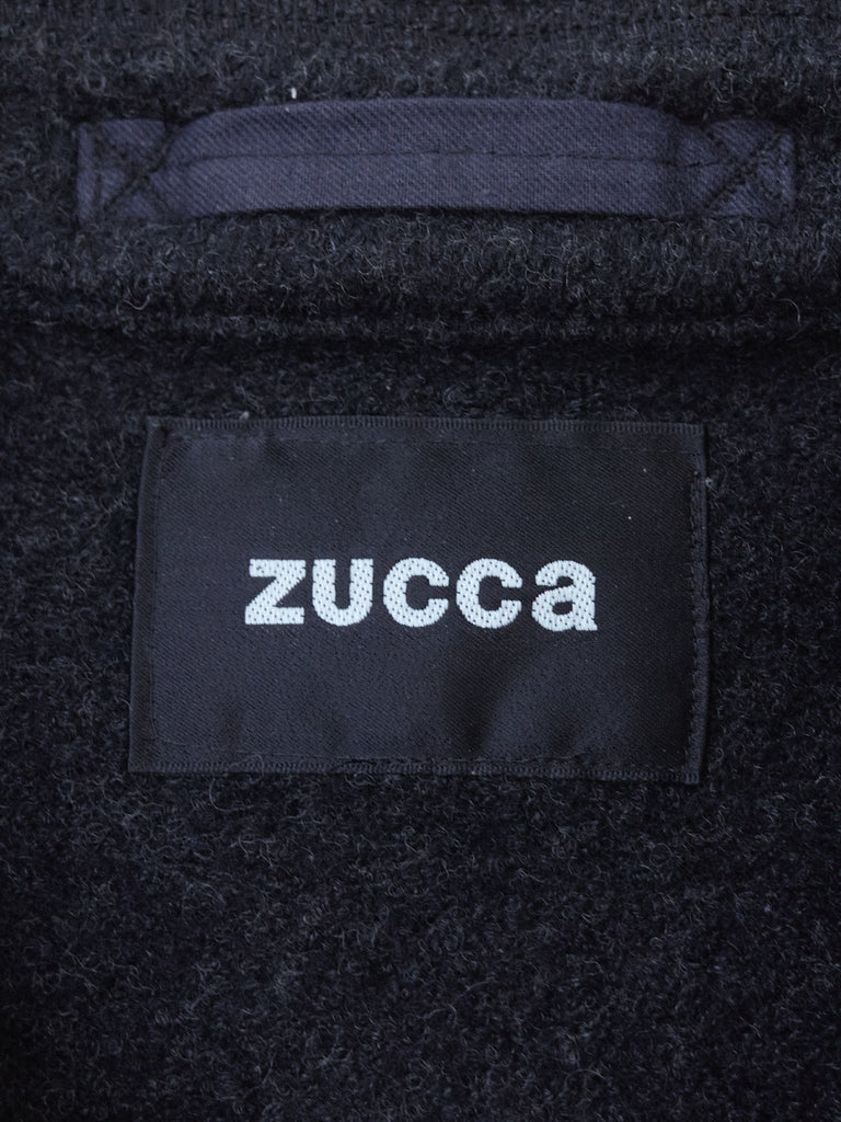 Zucca grey knit wool double pocket bomber jacket - womens S