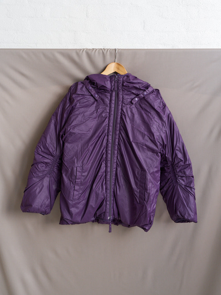 Final Home 1990s purple ripstop nylon hooded down jacket - mens S