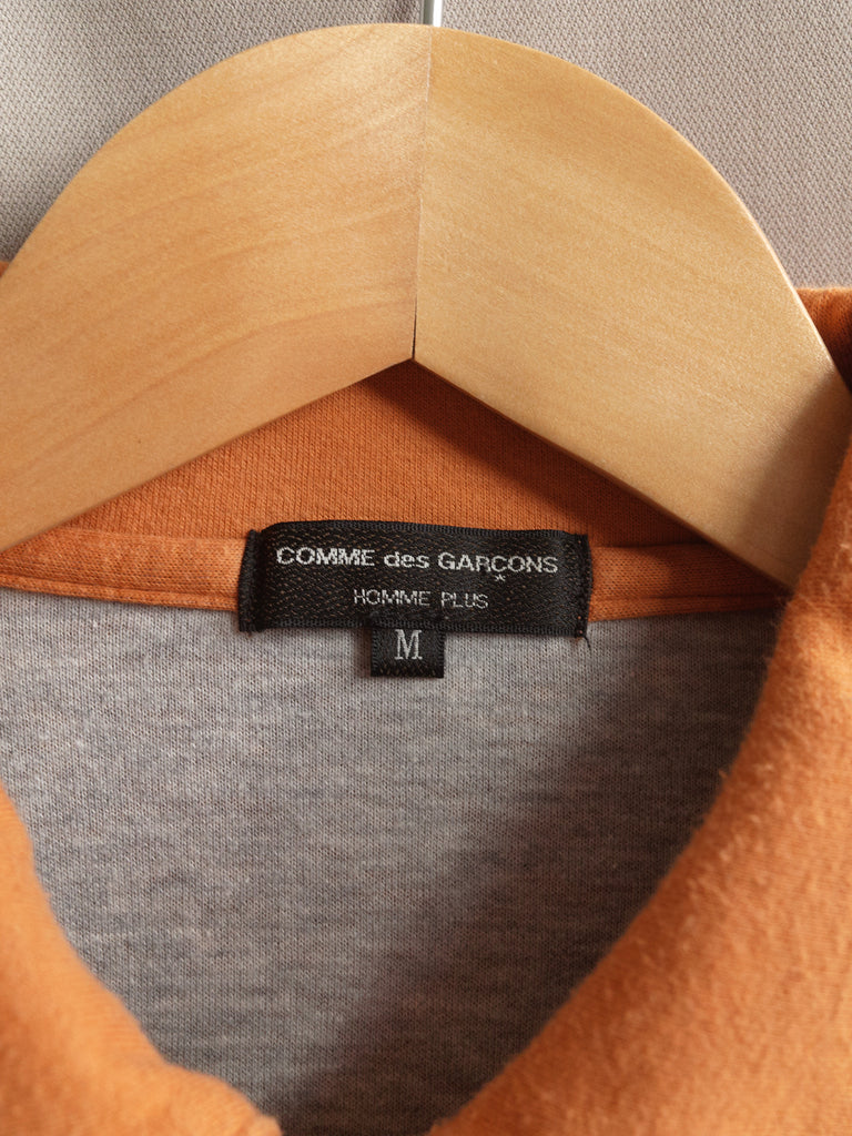 Comme des Garcons Homme Plus AW2005 underarm zip polo shirt sweater - mens M