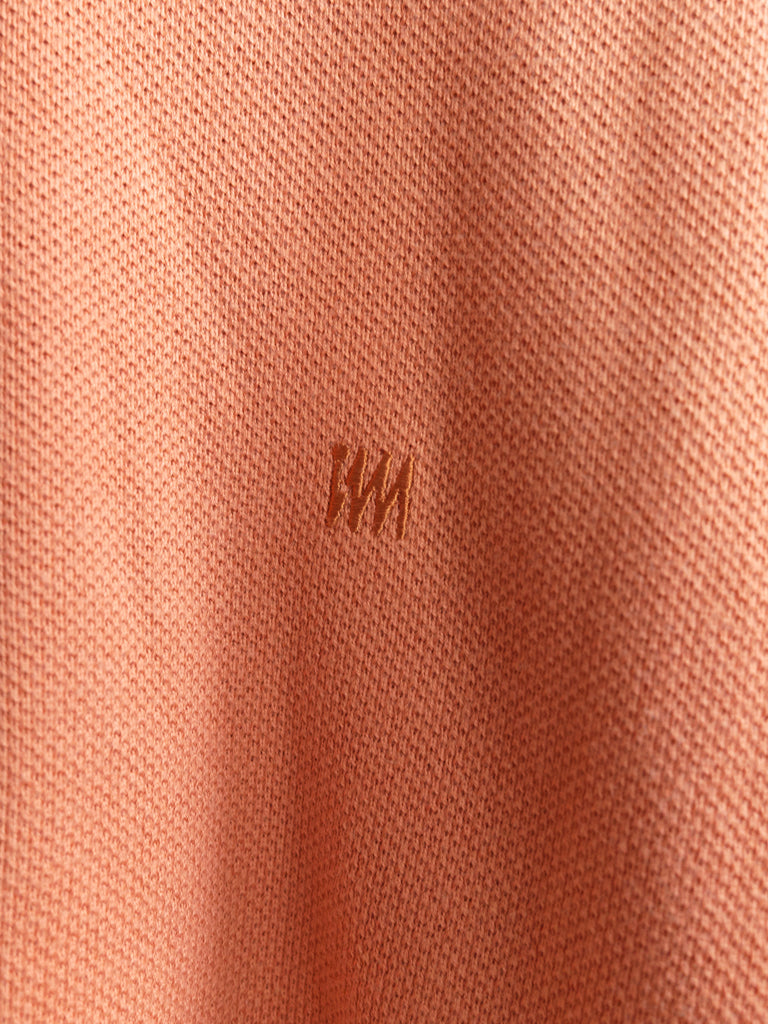 Issey Miyake Design Studio 1990s apricot cotton pique polo shirt - mens L