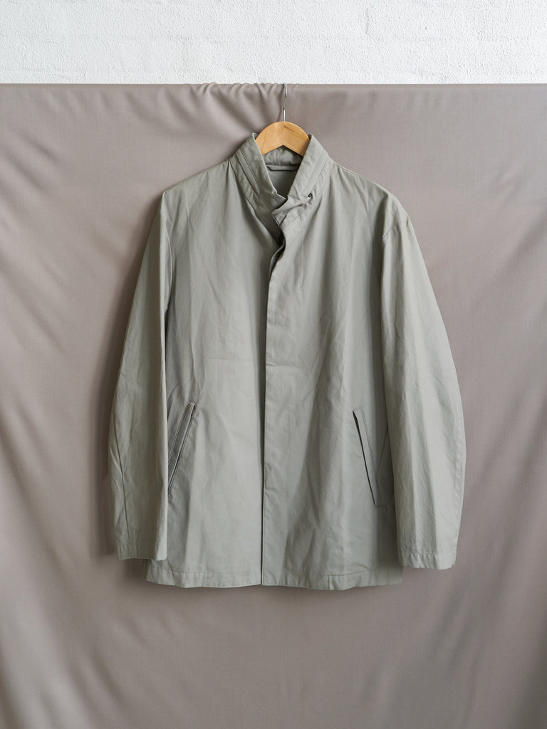 Ma-ji Masatomo 1980s coated canvas covered placket collar hood jacket