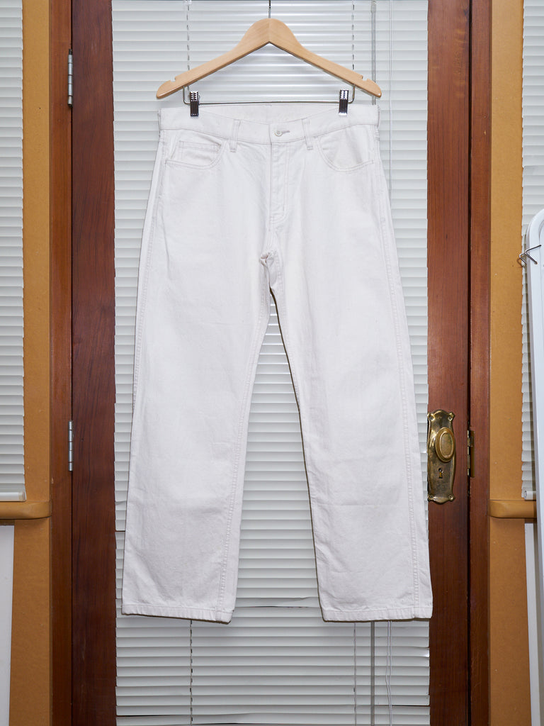 Comme des Garcons Homme 2005 oatmeal cotton 5 pocket trousers - mens L