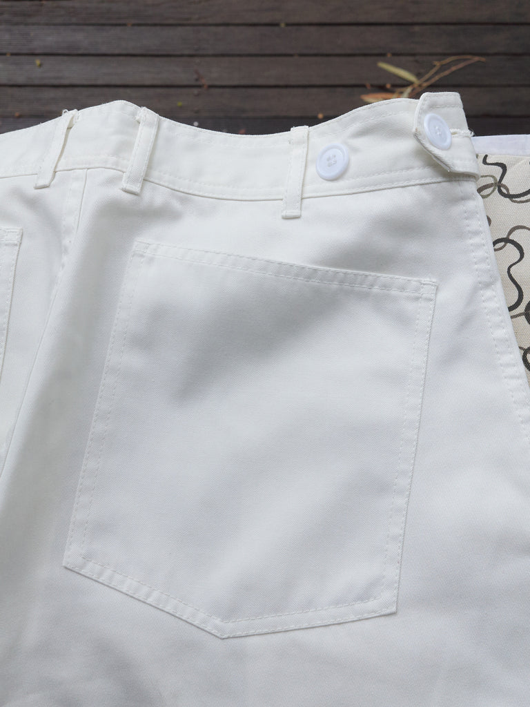 Comme des Garcons Homme Plus 1996 white polyester slash pocket trousers - mens S