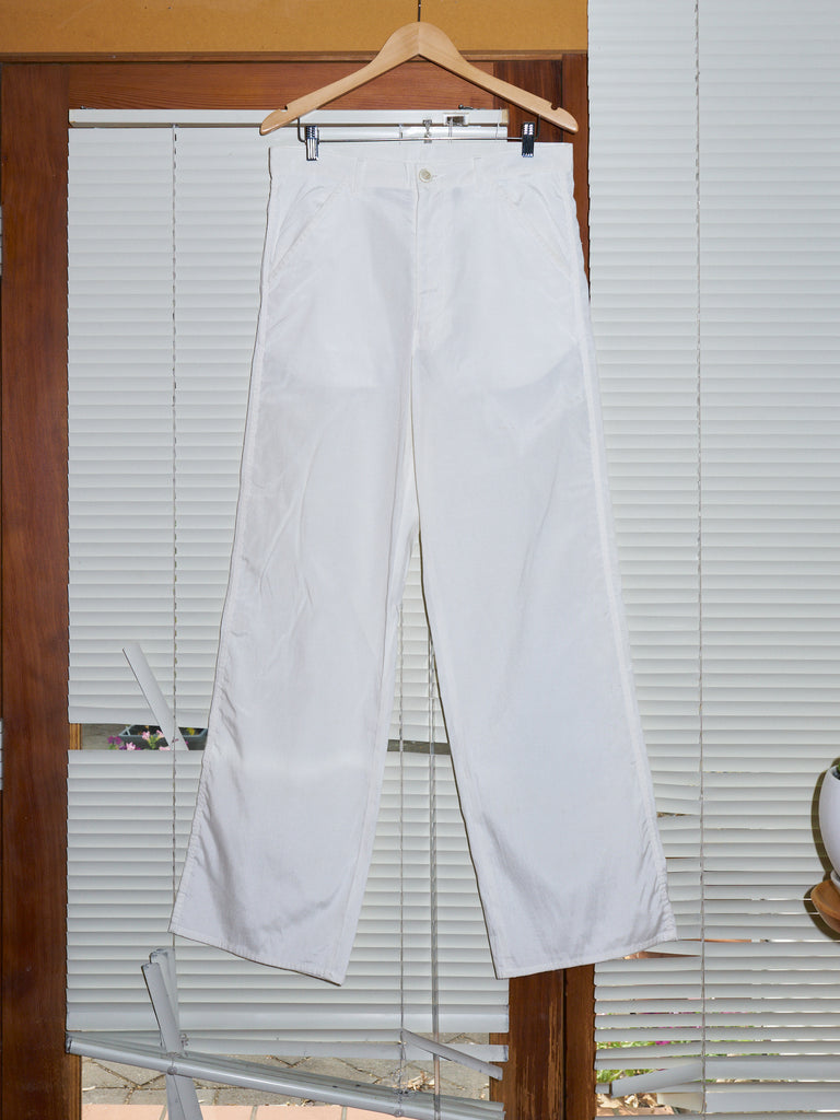 Comme des Garcons Homme Plus 1997 white poly cotton straight leg pants - mens L