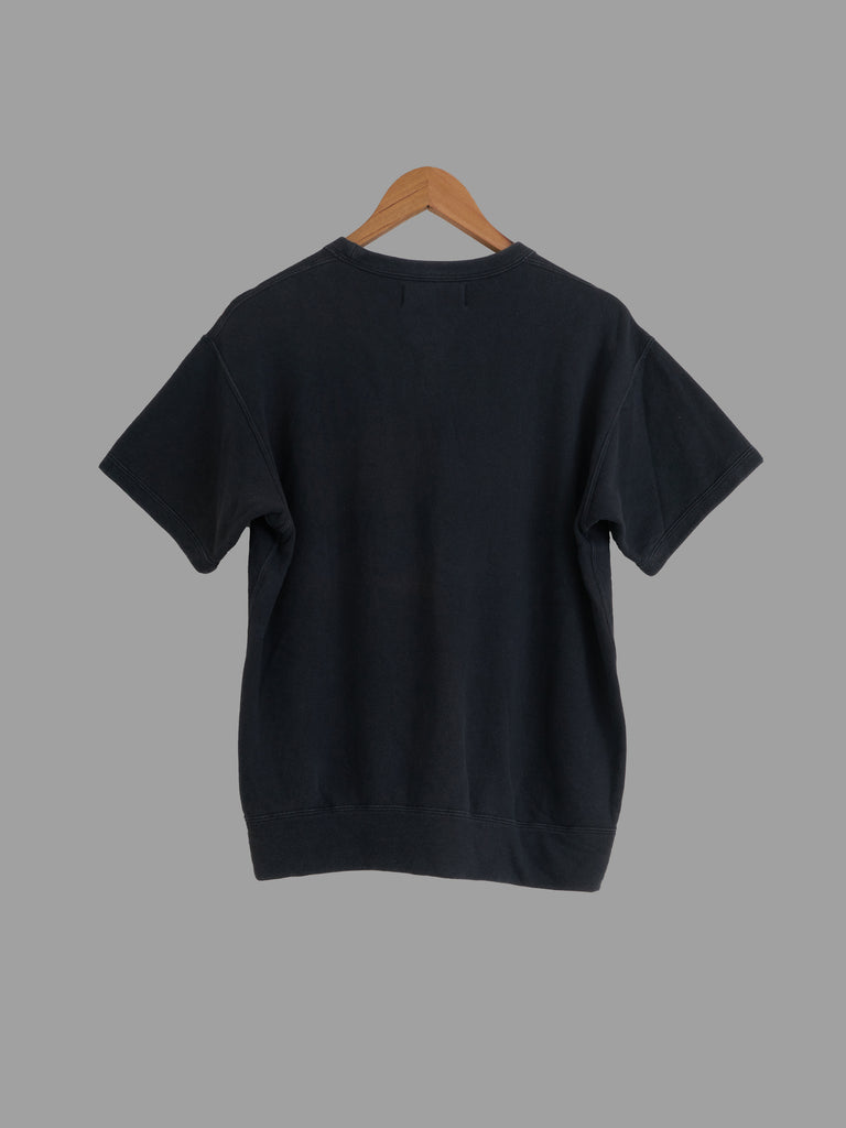 Tricot Comme des Garcons 1980s dark navy cotton short sleeve sweatshirt