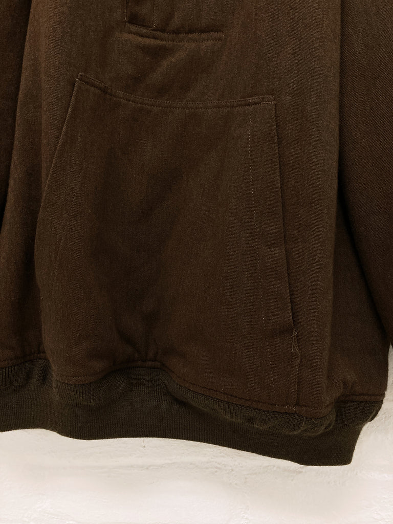 Keita Maruyama Homme 1990s brown padded MA-1 style pullover bomber jacket - M L