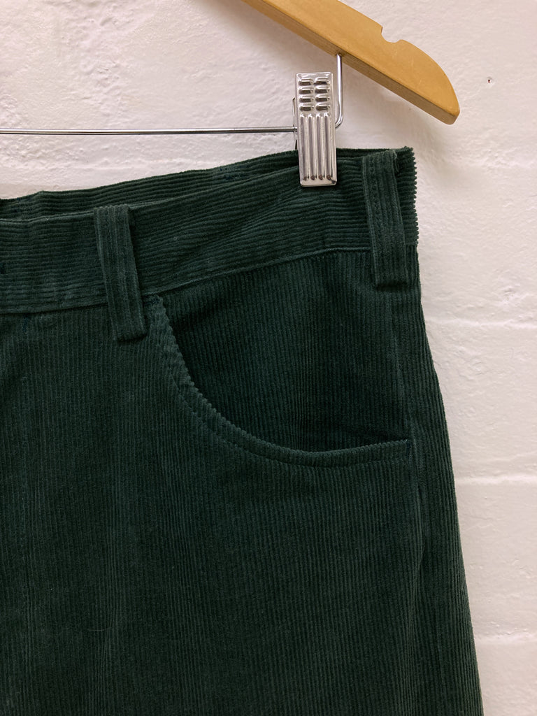 Keita Maruyama Homme 1990s dark green corduroy two way zip off trousers - size M