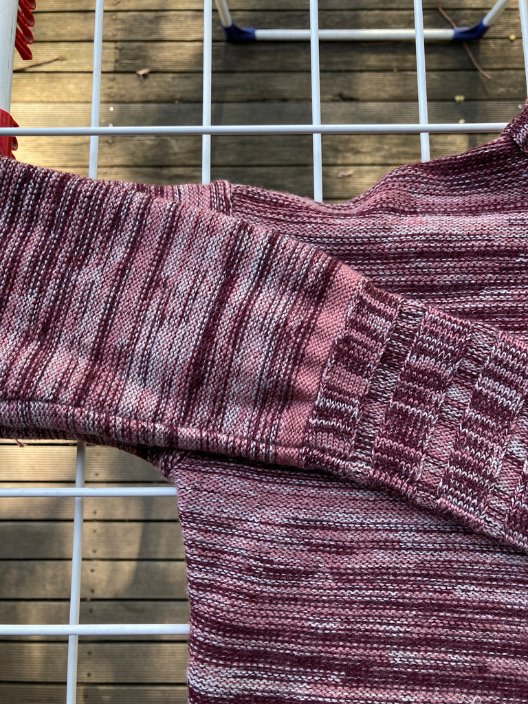 Mandarina Duck 1990s pink ish heathered wool extreme turtleneck sweater - sz 40