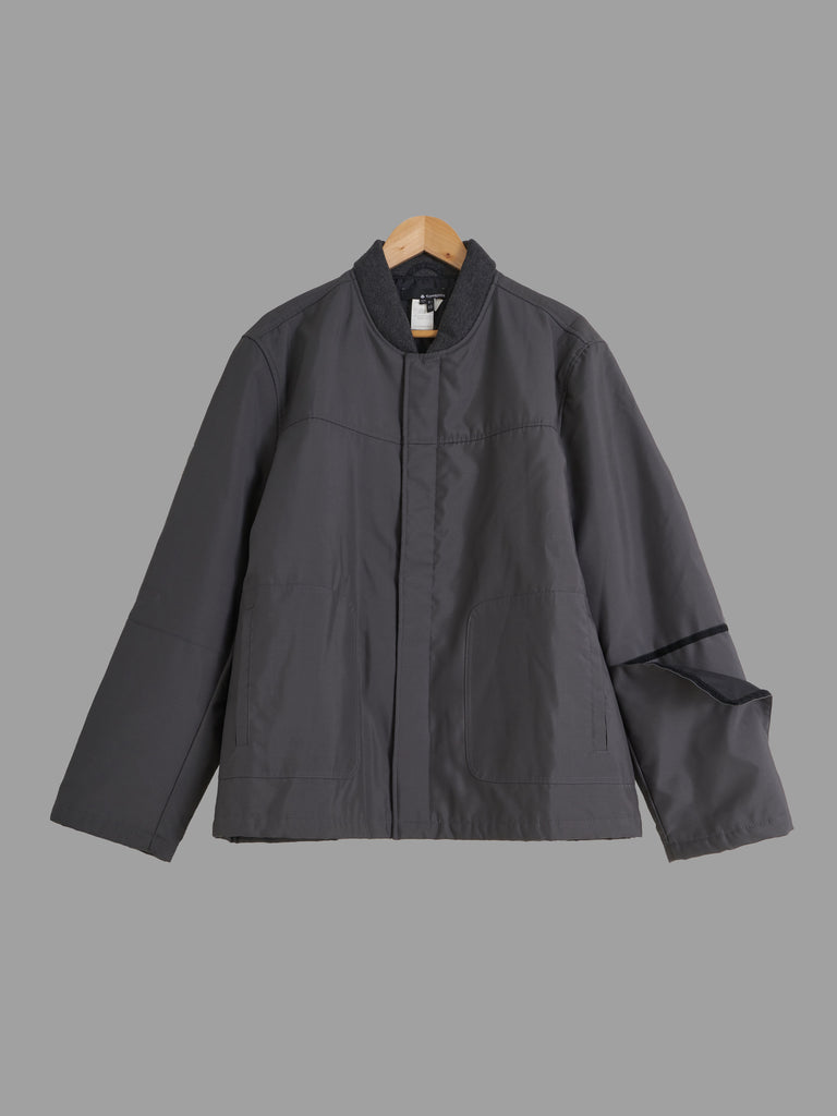 Samsonite grey poly blend padded compass sleeve bomber jacket - size 50