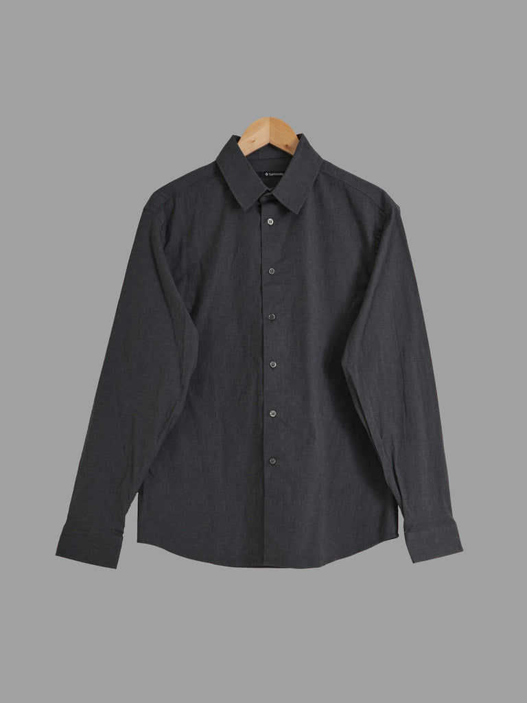 Samsonite dark grey stretch cotton shirt - approx mens size M - L