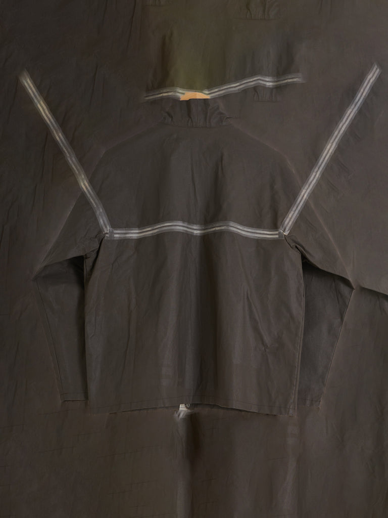 Mandarina Duck 1990s khaki taped seam plastic zip windbreaker - size 42 S M L