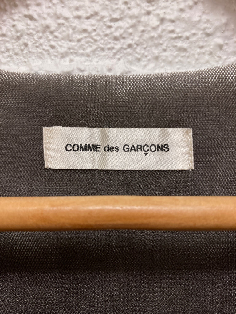 Comme des Garcons 1997 grey nylon mesh 5 layer tshirt - approx M S