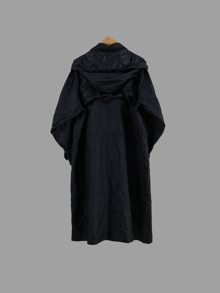Issey Miyake Windcoat black lightweight polyester packable hooded raincoat - L M