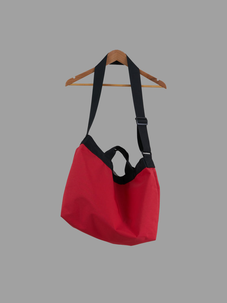 MHL Margaret Howell red nylon interior cover shoulder bag