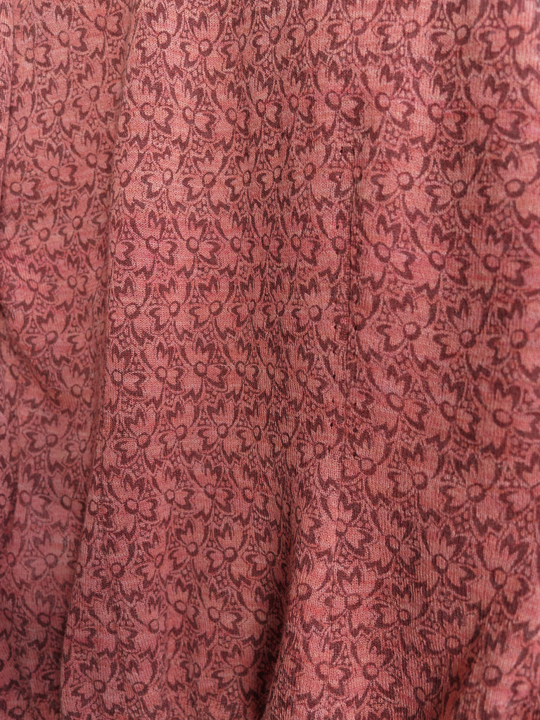Comme des Garcons 1998 pink floral knit three armhole sleeveless top