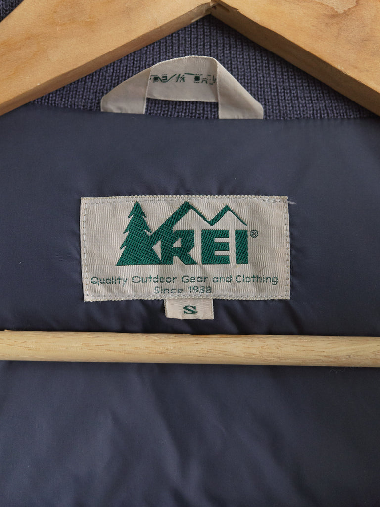 REI 1990s petrol blue nylon down bomber jacket - mens S XS
