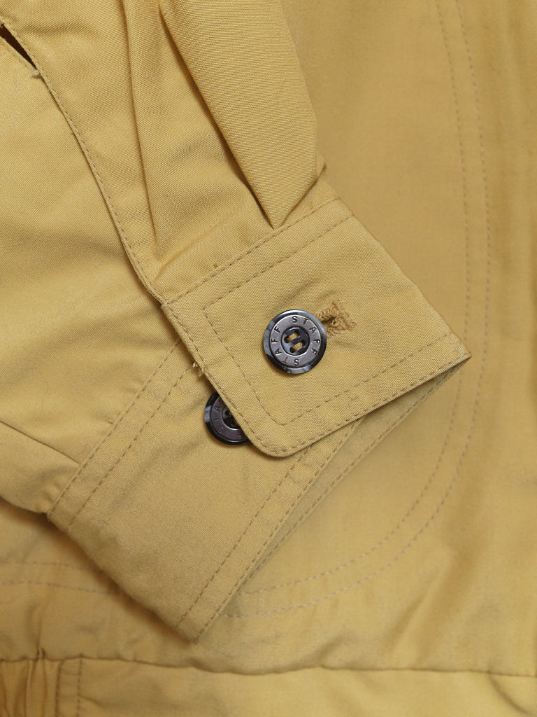 Vintage Staff Jumper mustard poly-cotton flap pocket bomber jacket - size M