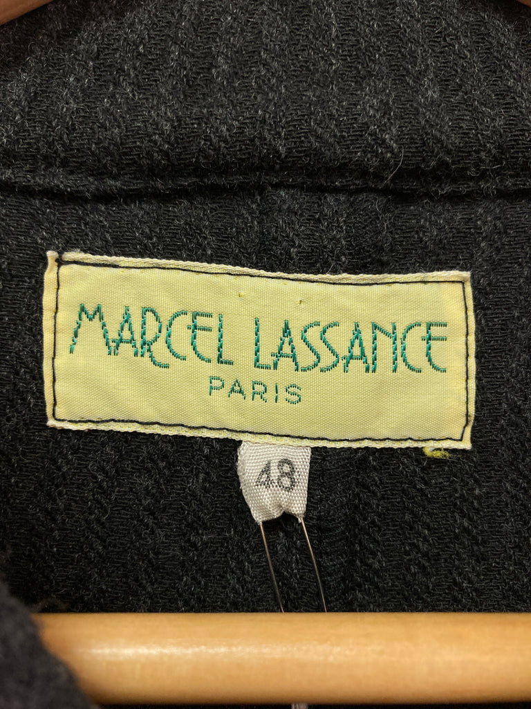 Marcel Lassance dark grey wool corduroy 5 button flap pocket jacket - size 48