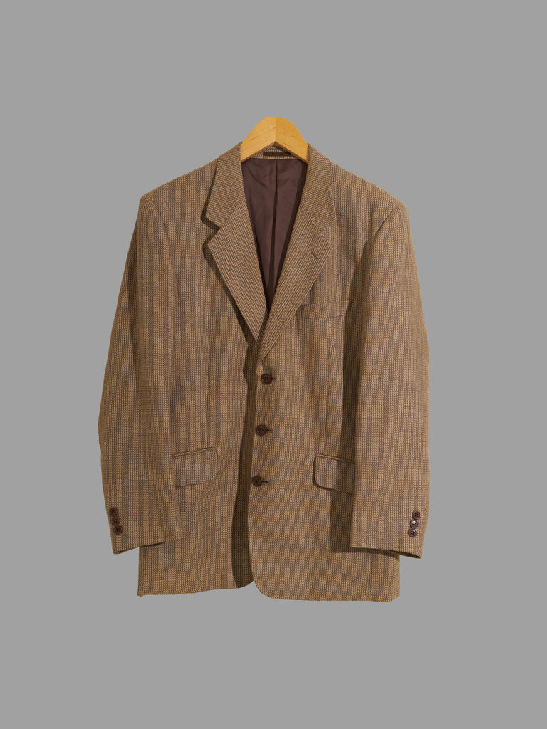 Vintage Yorkshire Tweed by Moon brown wool blend 3 button blazer - M L