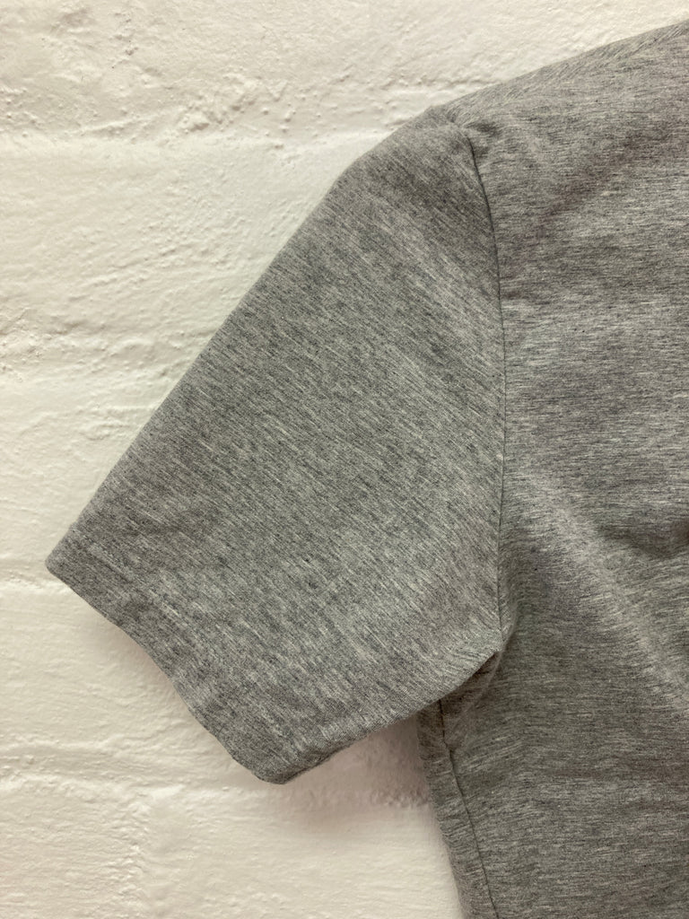 Issey Miyake grey marle inflatable panel tshirt - size S M