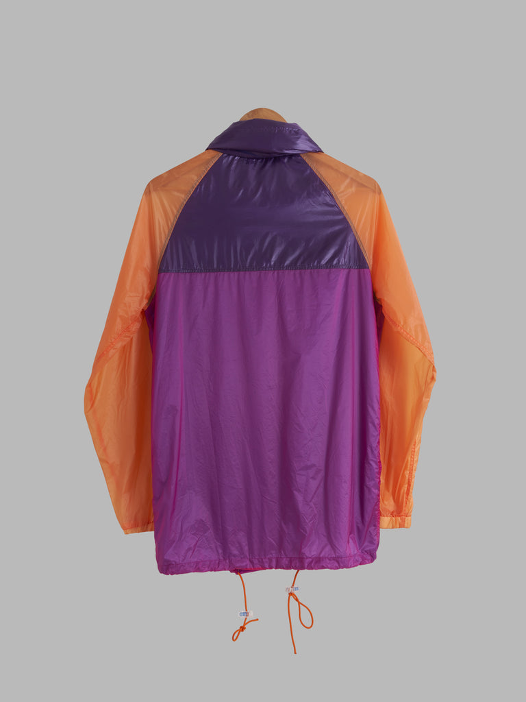 Keita Maruyama Homme purple orange nylon windbreaker with collar hood - mens S