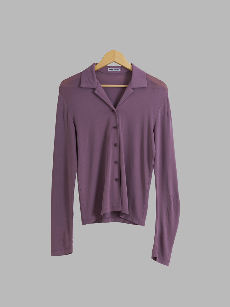 Issey Miyake lavender-y jersey knit long sleeve shirt - 2 M S