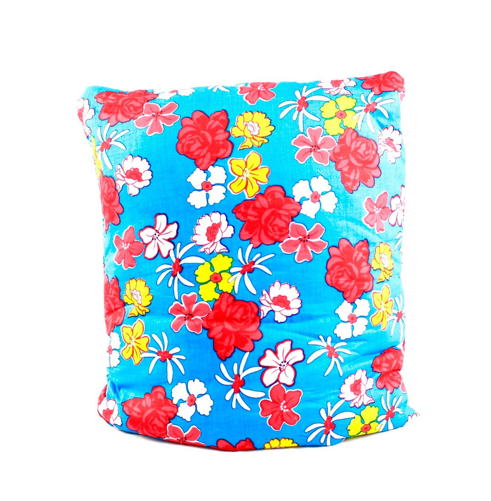 Arabian Flowers Blue Secret Pillow