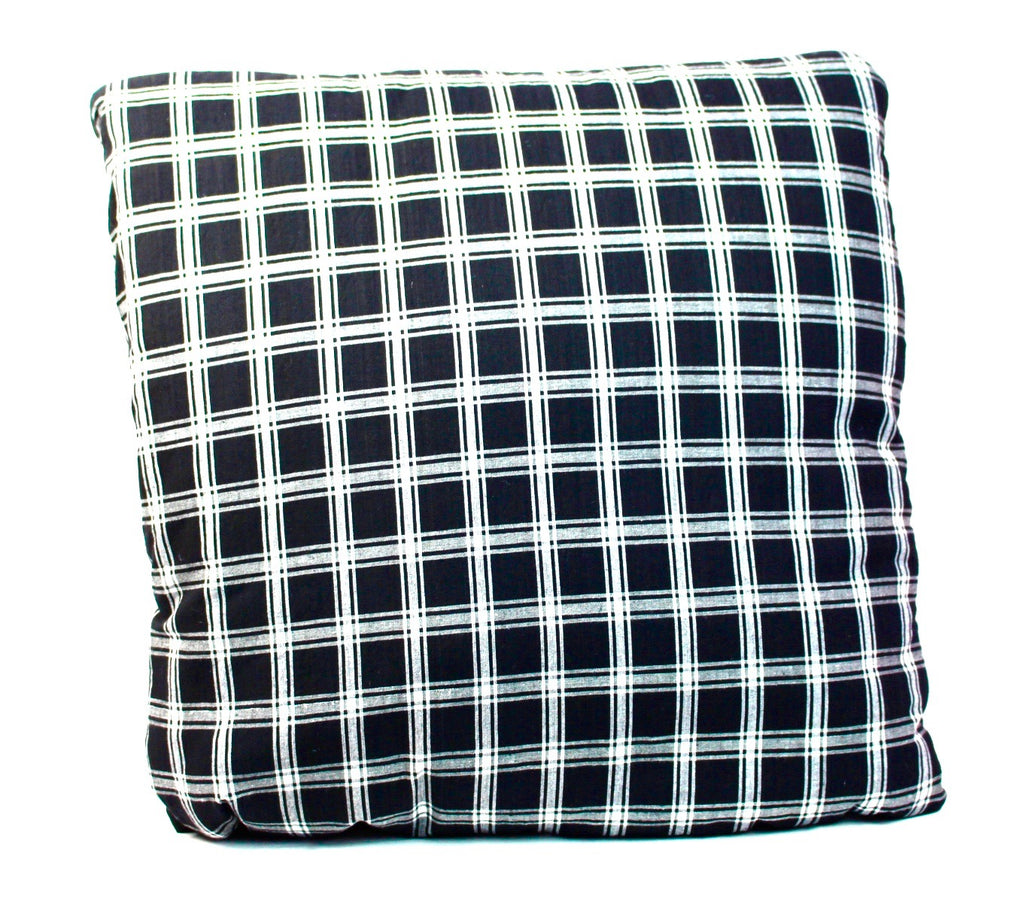 Big Checks in Black and White Secret Pillow