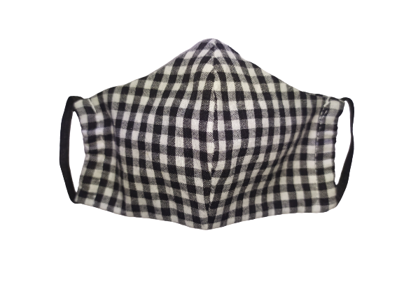 Black Gingham Face Mask