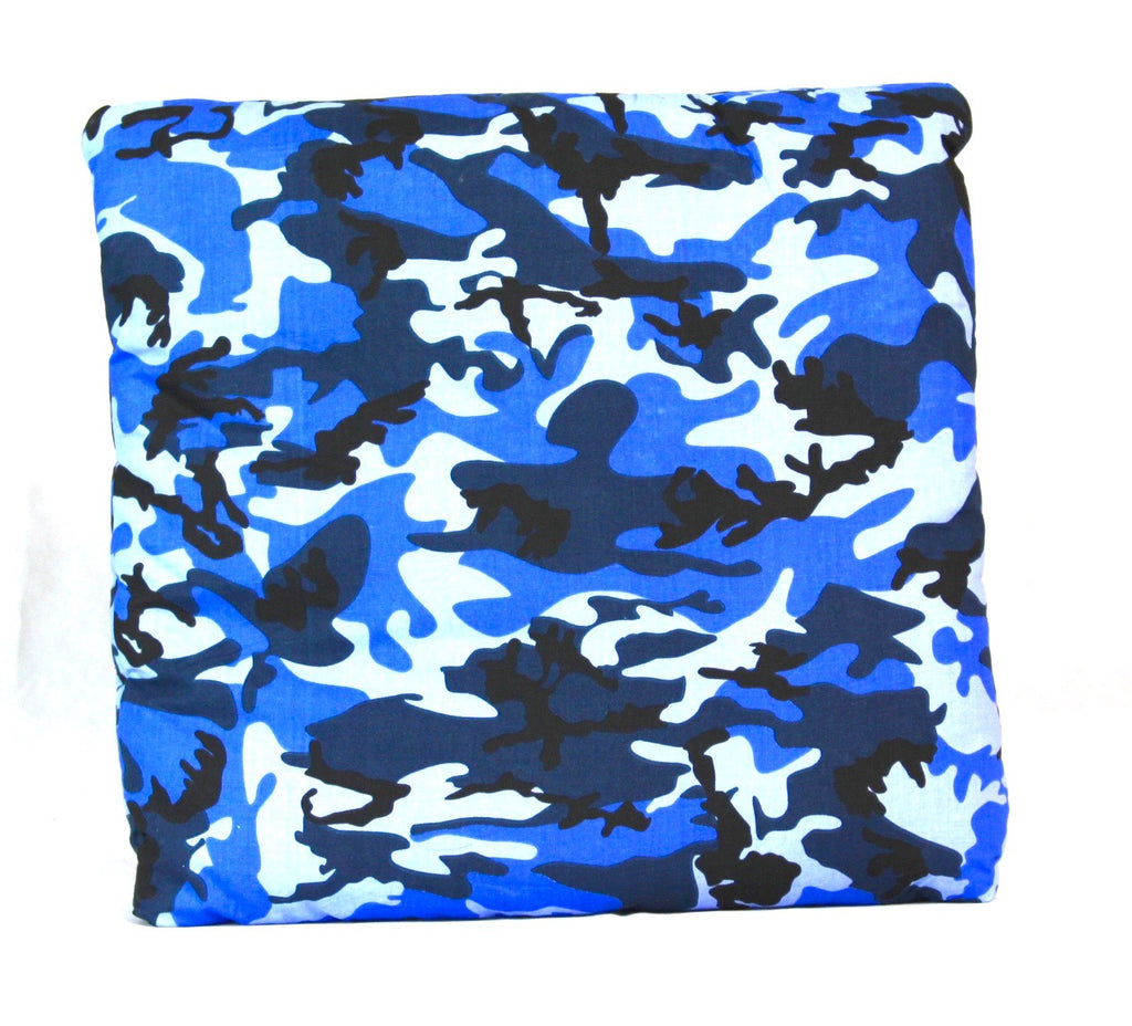 Camouflage Secret Pillow Blue