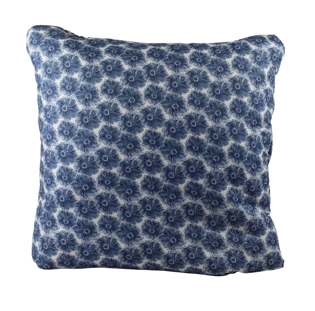 Blue Poppy Secret Pillow