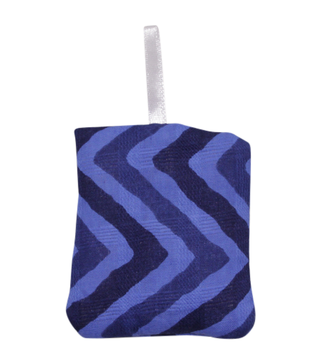 Blue Zig Zag Really Tiny Secret Pillow