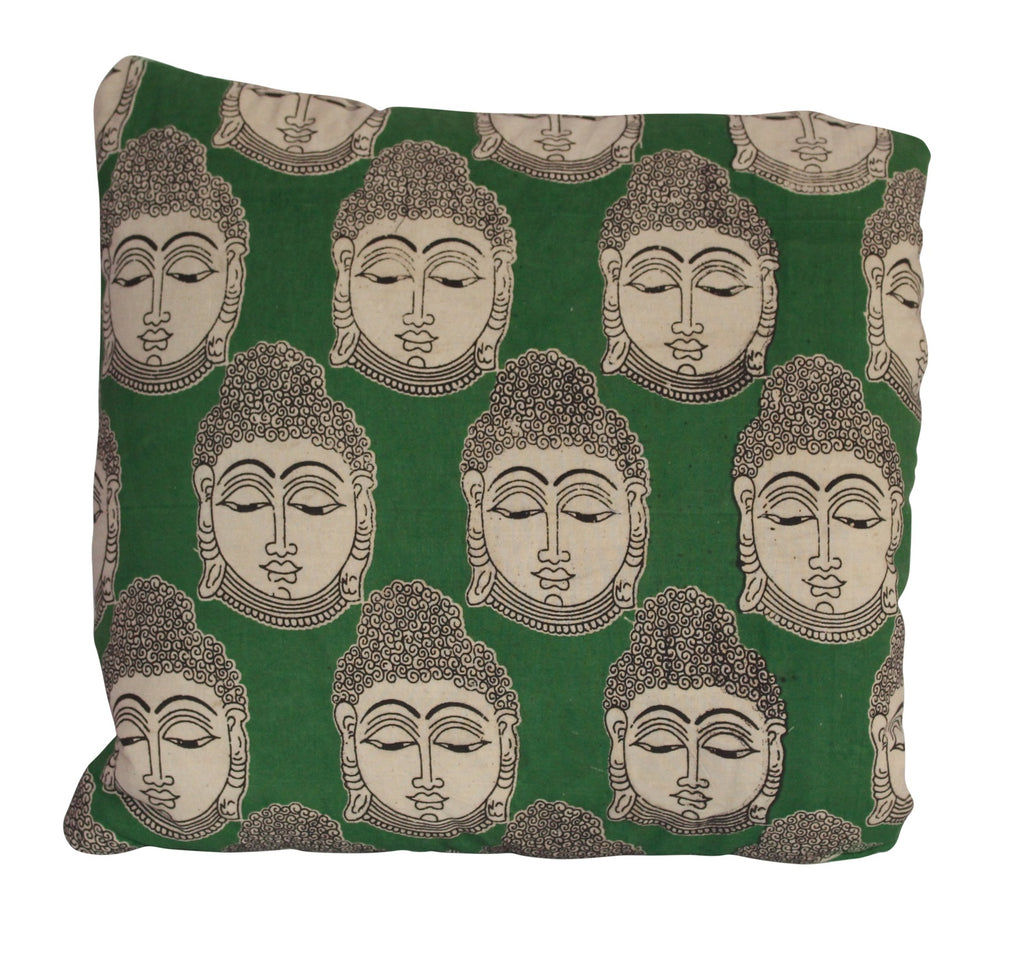 Buddha Secret Pillow in green
