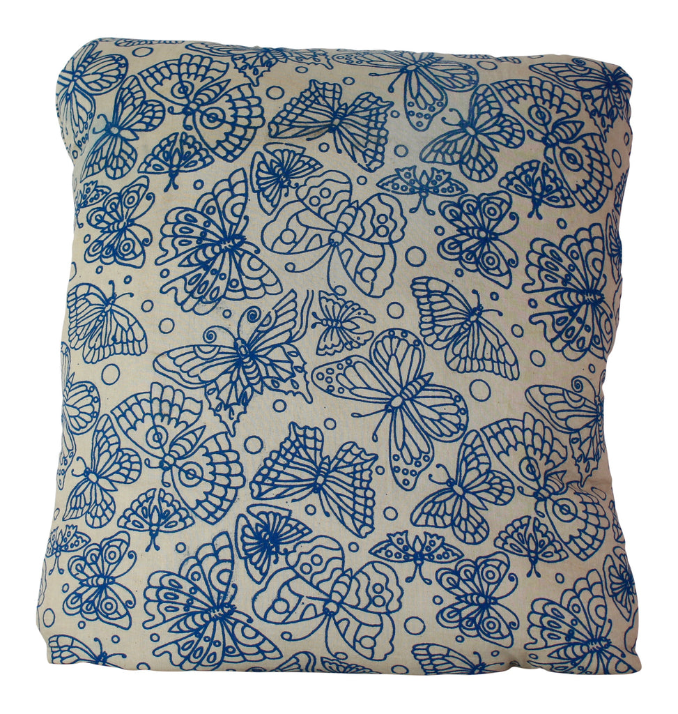 Butterflies Blue Secret Pillow