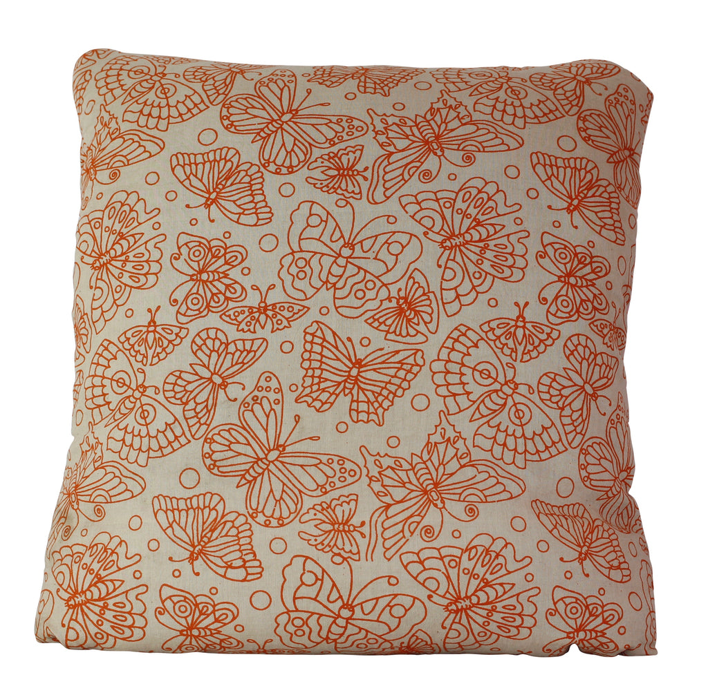 Butterflies Orange Secret Pillow
