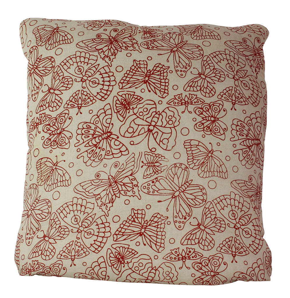 Butterflies Raspberry Secret Pillow