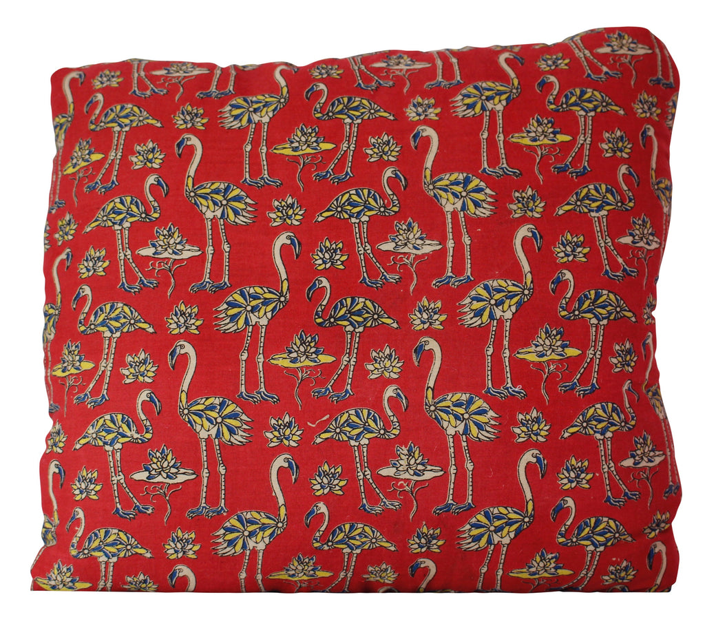 Flock of Flamingos Red Secret Pillow