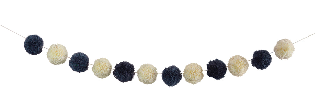 Grey and Cream Pom Pom Garland