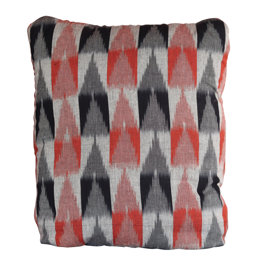 Ikkat Burnt Orange Secret Pillow