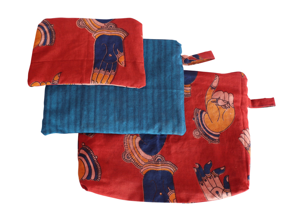 Mudra Set of Three Cosmetic Pouches