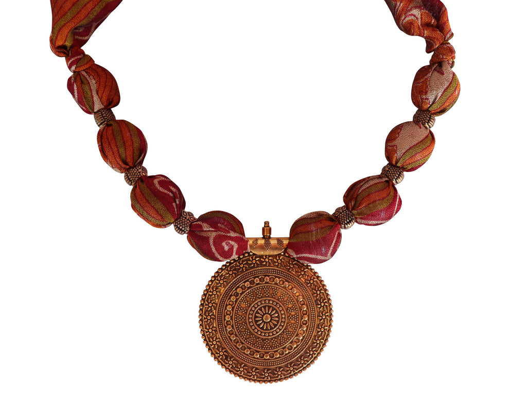 Tawny Secret Sari Necklace
