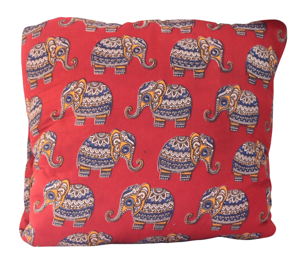 Baby Elephants Red & Gold Secret Bed Blanket