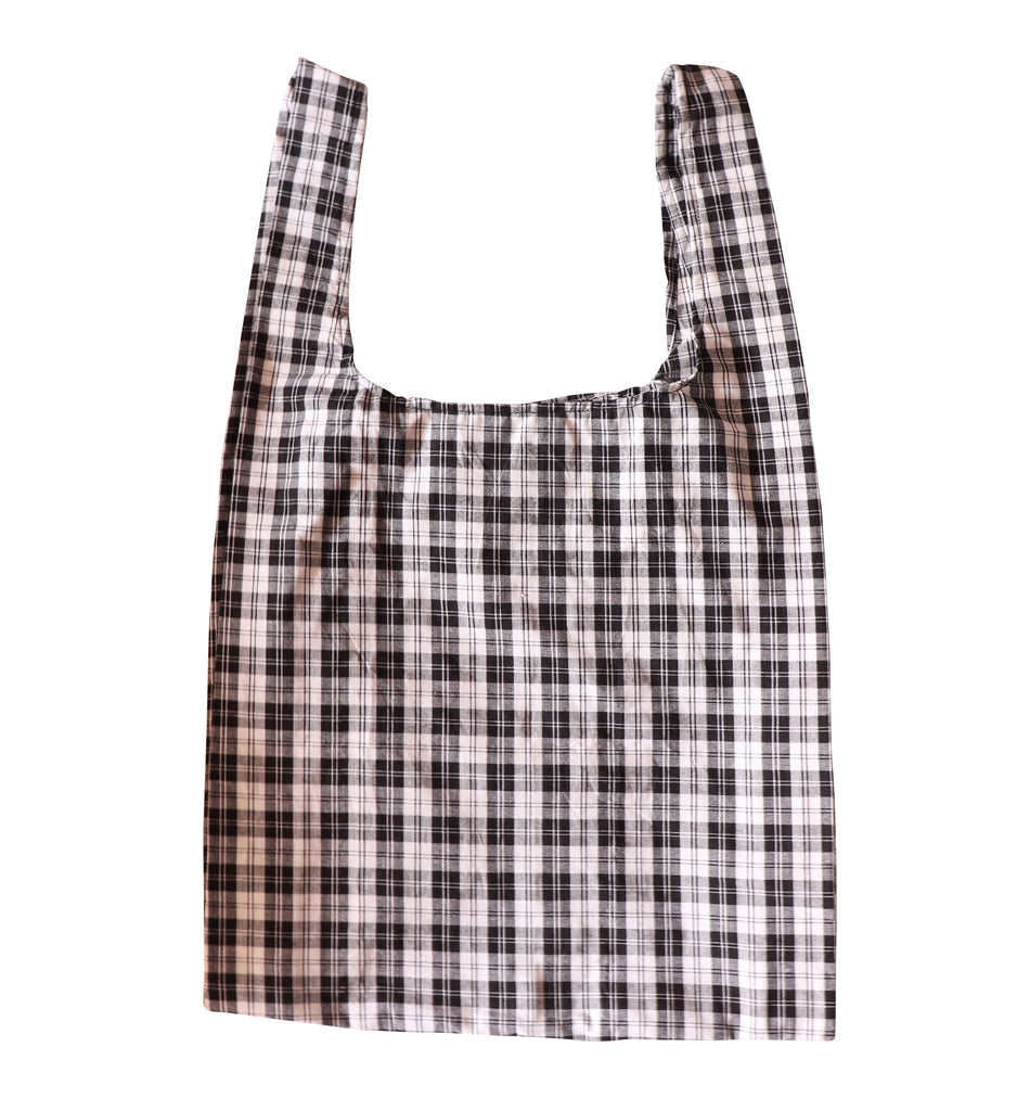 Black Tartan Secret Shopping Bag