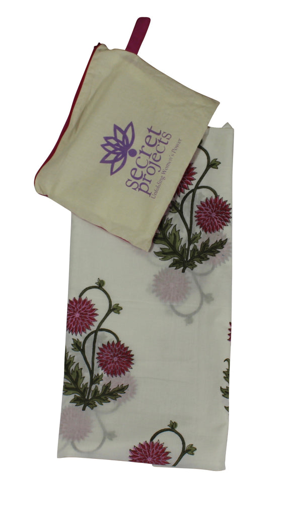 Pink Thistle Botanical Secret Scarf
