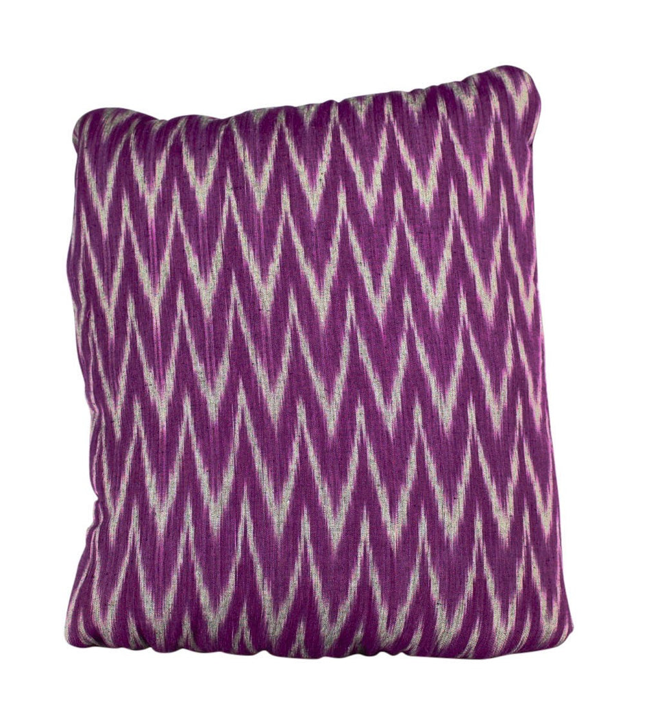 Ikkat Purple & Grey Secret Pillow