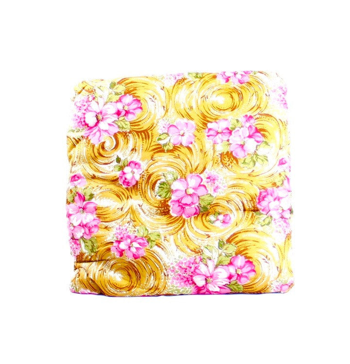 Sandy Beach with Pink Flowers Secret Pillow