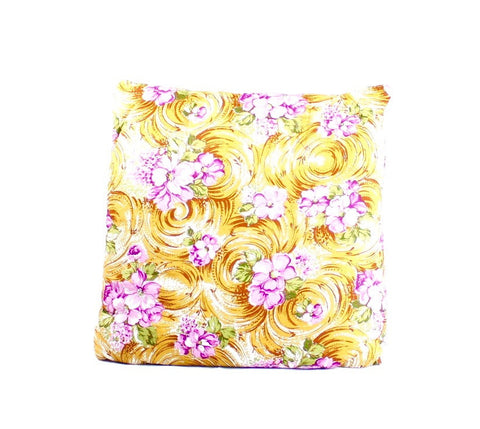 Sandy Beach with Violet Flowers Secret Pillow
